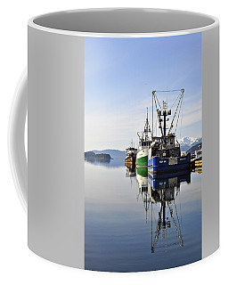 Auke Bay Reflection Coffee Mug by Cathy Mahnke