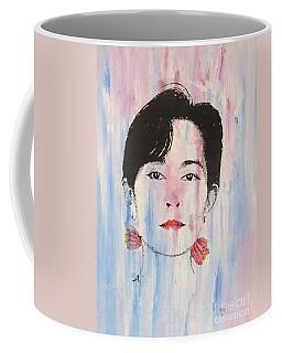Aung San Suu Kyi Coffee Mug by Roberto Prusso