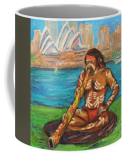 Coffee Mug featuring the painting Aussie Dream I by Xueling Zou