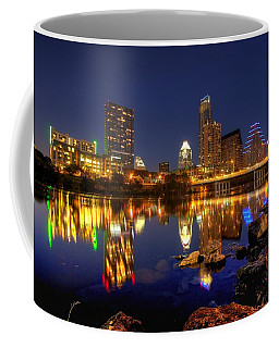 Coffee Mug featuring the photograph Austin On The Rocks by Dave Files