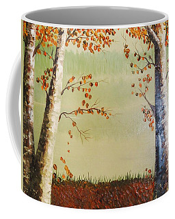 Autum On The Ema River  2 Coffee Mug
