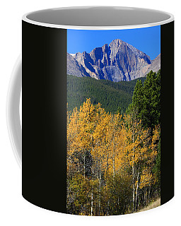 Autumn Aspens And Longs Peak Coffee Mug