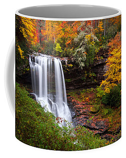 Autumn At Dry Falls - Highlands Nc Waterfalls Coffee Mug