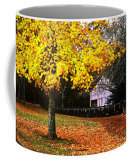 Coffee Mug featuring the photograph Autumn At Old Mill by Rodney Lee Williams