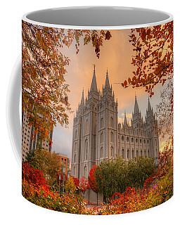 Autumn At Temple Square Coffee Mug