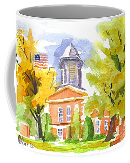 Coffee Mug featuring the painting Autumn At The Courthouse by Kip DeVore
