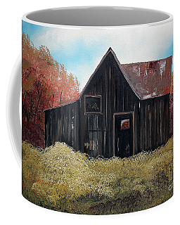 Autumn - Barn -orange Coffee Mug by Jan Dappen