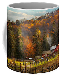 Autumn - Barn - The End Of A Season Coffee Mug