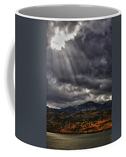 Coffee Mug featuring the photograph Autumn Beams by Mary Jo Allen