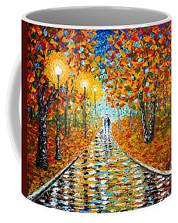 Autumn Beauty Original Palette Knife Painting Coffee Mug