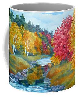 Autumn Blaze With Birch Trees Coffee Mug