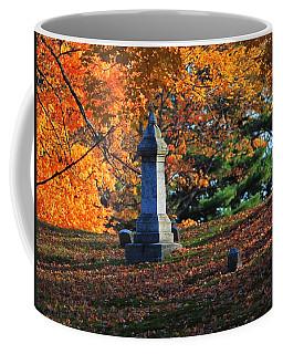 Autumn Cemetery Visit Coffee Mug