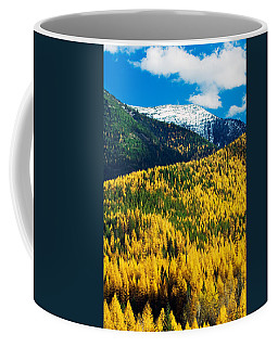 Autumn Color Larch Trees In Pine Tree Coffee Mug