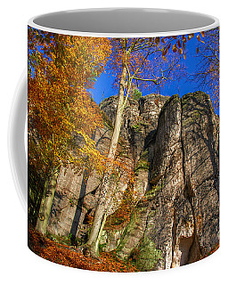 Autumn Colors In The Saxon Switzerland Coffee Mug