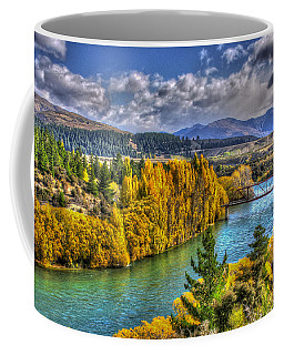 Autumn Colours By Clutha River  Coffee Mug