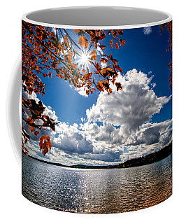Coffee Mug featuring the photograph Autumn  Confidential  by Bob Orsillo