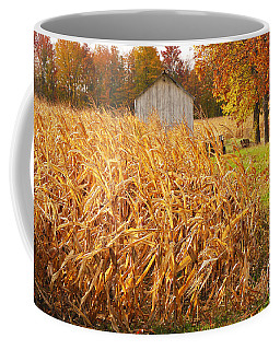 Coffee Mug featuring the photograph Autumn Corn by Mary Carol Story
