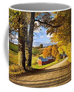 Coffee Mug featuring the photograph Autumn Farm In Vermont by Brian Jannsen