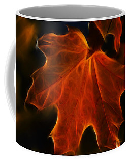 Coffee Mug featuring the photograph Autumn Fire by Beth Sawickie