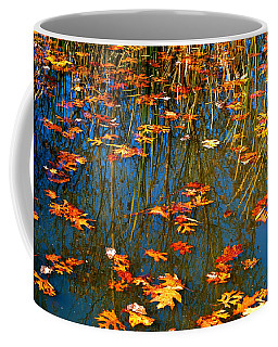 Coffee Mug featuring the photograph Autumn  Floating by Peggy Franz