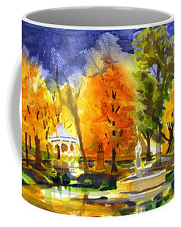 Coffee Mug featuring the painting Autumn Gold 2 by Kip DeVore