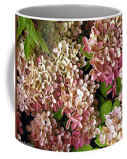 Coffee Mug featuring the photograph Autumn Hydrangeas by Sandra Estes