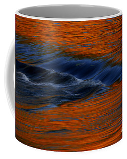 Coffee Mug featuring the photograph  Autumn River by John F Tsumas