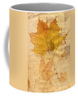 Autumn Leaf In Grunge Style Coffee Mug
