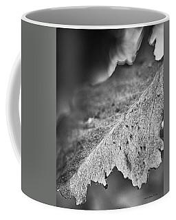 Autumn Leaves B And W Coffee Mug