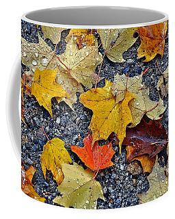 Autumn Leaves In Rain Coffee Mug