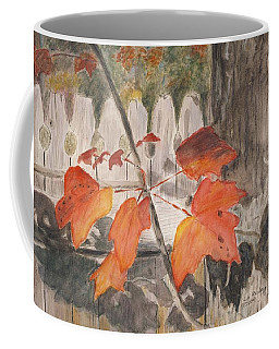 Autumn Leaves On Belmont St Coffee Mug