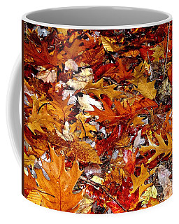 Autumn Leaves On The Ground In New Hampshire - Bright Colors Coffee Mug