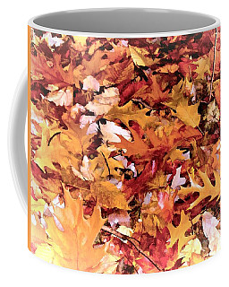 Autumn Leaves On The Ground In New Hampshire In Muted Colors Coffee Mug