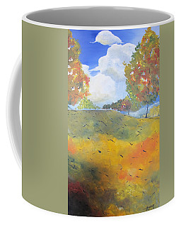 Autumn Leaves Panel 2 Of 2 Coffee Mug by Gary Smith
