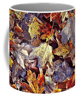 Autumn Leaves With Frost Coffee Mug
