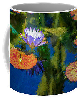 Autumn Lily Pad Impressions Coffee Mug by Georgia Mizuleva