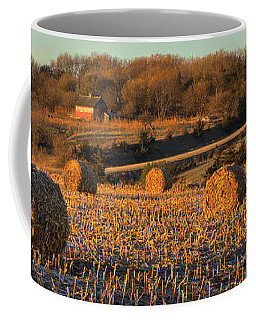 Autumn Morning Bales Coffee Mug