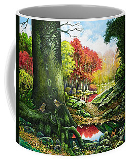 Autumn Morning In The Forest Coffee Mug