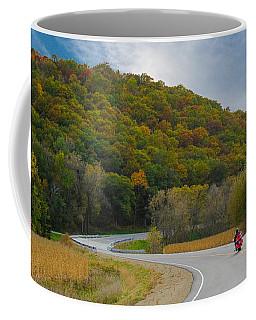 Autumn Motorcycle Rider / Orange Coffee Mug