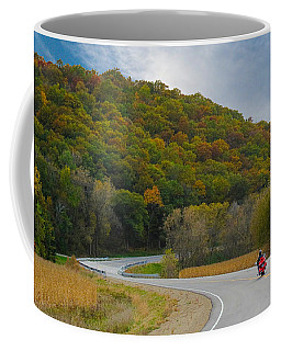 Autumn Motorcycle Rider / Orange Coffee Mug