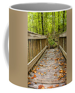 Autumn On The Bridge Coffee Mug