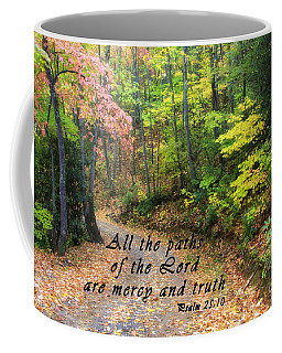 Autumn Path With Scripture Coffee Mug