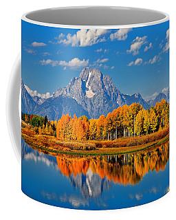 Autumn Peak At Oxbow Bend Coffee Mug
