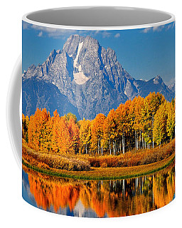 Autumn Peak At Oxbow Bend Coffee Mug