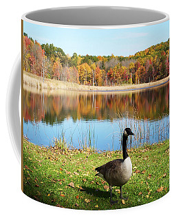 Autumn Pond Goose Coffee Mug