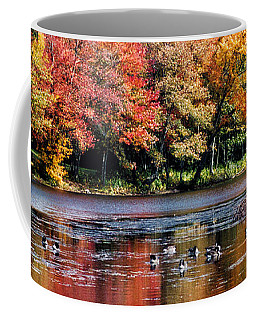 Coffee Mug featuring the photograph Autumn Pond by William Selander