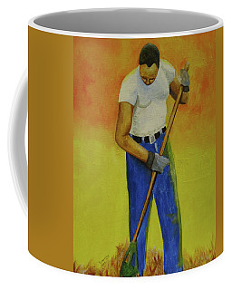Autumn Raking Coffee Mug