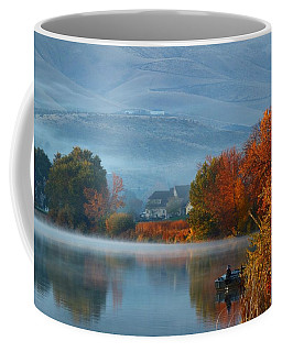 Coffee Mug featuring the photograph Autumn Reflection by Lynn Hopwood