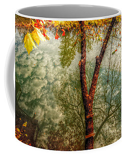 Coffee Mug featuring the photograph Autumn Reflection  by Peggy Franz