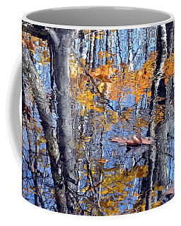 Autumn Reflection With Leaf Coffee Mug